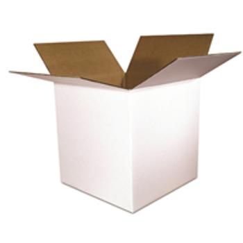 S-4591 White Boxes 8 x 8 x 8 White 200#  32 ECT 25 bdl. 750 bale BS080808W