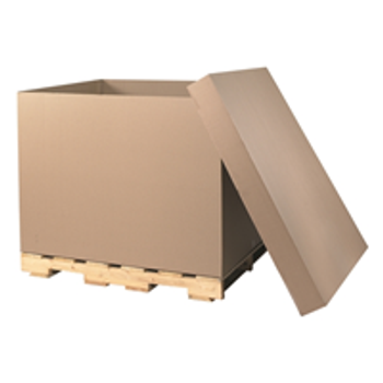 "Doublewall Heavy-Duty Boxes|48 x 40 x 36"" HSC Bottom 48 ECT  275# D.W. Bulk Cargo Container