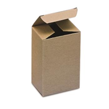 "Kraft Reverse Tuck Folding Cartons BSRTS38 1 1/2 x 1 1/2 x 4"" K"