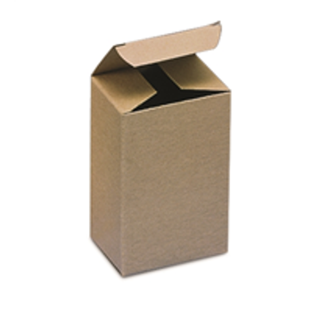 BSRTS39 Kraft Reverse Tuck Folding Cartons 2 3/8 x 1 1/2 x 3 1/