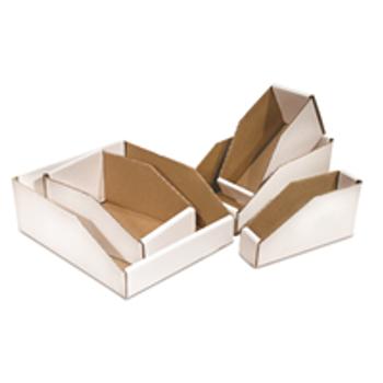 """BSBWZ218 Open Top Bin Boxes 2 x 18 x 4 1/2"""" Open"""