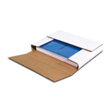 BSM1BK White Multi-Depth Corrugated Bookfolds 11 1/8 x 8 5/8 x 2""
