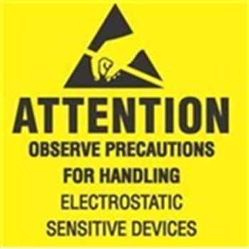 "LABDL9080 Anti-Static Labels #DL9080 2 x 2 "" Atte"