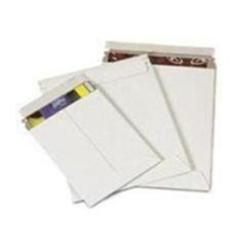 "ENVRM1WSS White Self-Seal Booklet Style Paperboard Mailers 6 x 8"" #1WSS White T"