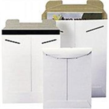 "Stayflats® Original White Tab-Lock Mailer ENVRM2SFW 9 x 11 1/2"" #2SFW Wh"