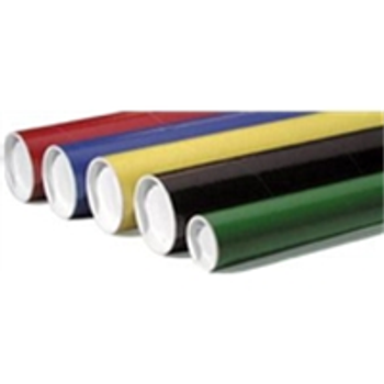 "Colored Mailing Tubes P2006Y 2 x 6"" Yellow Tube ("