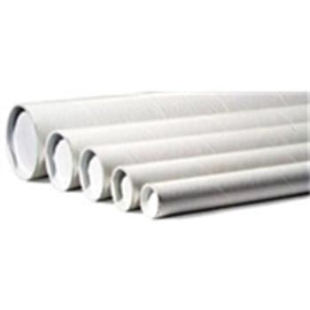 """P3006W White Mailing Tubes 3 x 6"""" White Tube (2"""