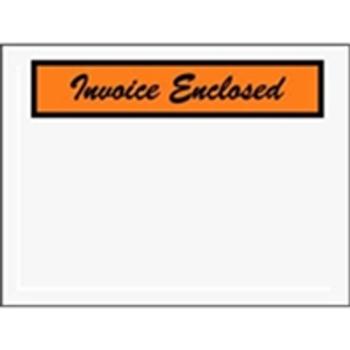 "Invoice Enclosed Envelopes ENVPQ3 4 1/2 x 6"" Panel Fac"