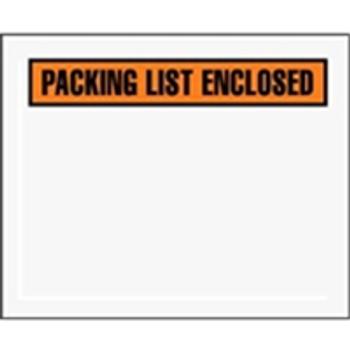 "Packing List Enclosed Envelopes ENVPQ12 4 1/2 x 5 1/2"" Panel"