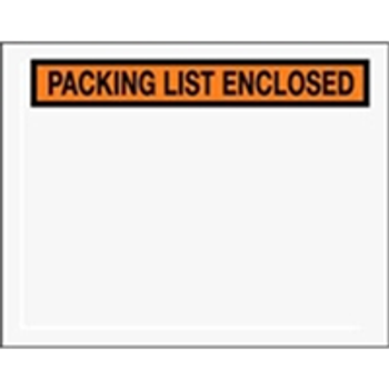 "Packing List Enclosed Envelopes ENVPQ19 7 x 5 1/2"" Panel Fac"
