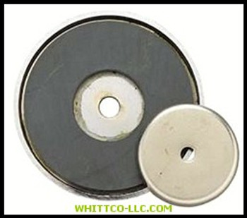 """3-1/4""""DIA. SHALLOW POTMAGNET 50-LB PULL