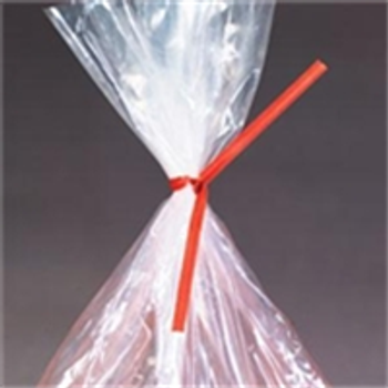 "Paper Twist Ties PBT5R 5"" x 3/16"" Red Paper"