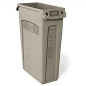 138843 Trash Containers 23 GALLON SLIM JIM C