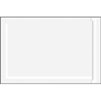 """ENVLNP46 Resealable/Zippered Clear Face Document Envelopes 4 x 6"""" Clear Face Do"""