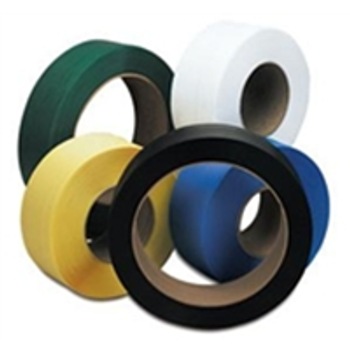 """16"""" x 6"""" Core Polyester Strapping SPS5825 5/8"""" x 4,400` .025 9"""