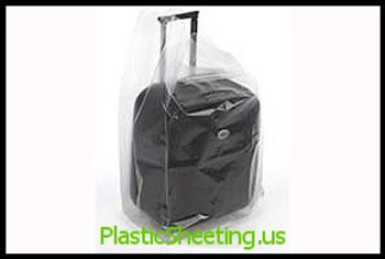 Gusseted Poly Bags 3 mil  12X10X24X003 250/CTN  #1738  Item No./SKU