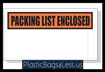 Packing List Envelopes  5.5X10 1000/Case Printed  #3883  Item No./SKU
