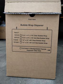 "12"" x 65', 1⁄2"" Bubble Wrap Roll Dispenser Box 5120-S"