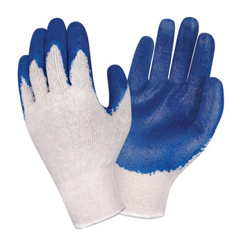3891S ECONOMY  10-GAUGE  NATURAL MACHINE KNIT  BLUE SMOOTH LATEX PALM COATING Cordova Safety Products