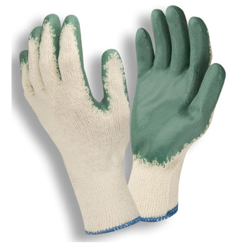 3892L STANDARD  10-GAUGE  NATURAL MACHINE KNIT  GREEN SMOOTH LATEX PALM COATING Cordova Safety Products