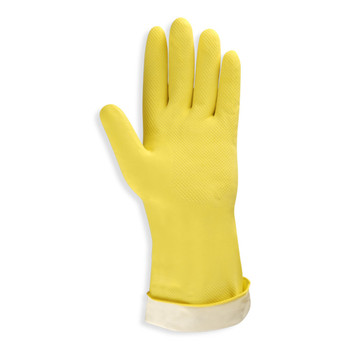 4250R YELLOW FLOCK-LINED LATEX  ROLLED CUFF  MEDIUM WEIGHT Cordova Safety Products