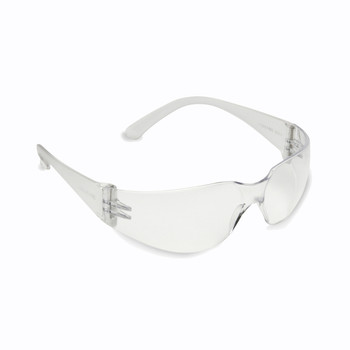 Cordova Safety Products EC10S Clear Uncoated Slammer Safety Glasses with Integrated//Vented Side Shields