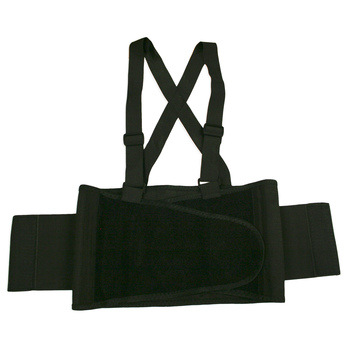 SB-L BACK SUPPORT BELT WITH ATTACHED SUSPENDERS  QUICK ADJUST ELASTIC OUTER PANELS  Cordova Safety Products