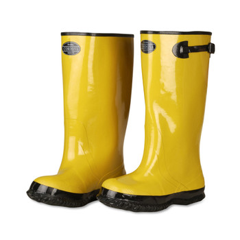 BYS17-8 YELLOW SLUSH BOOT WITH BLACK RIBBED SOLE  COTTON LINED  17-INCH LENGTH  OVER-THE-SHOE STYLE  SIZE 8 Cordova Safety Products