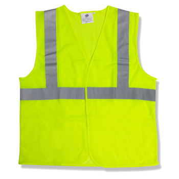 V211PL CLASS II  LIME MESH VEST  HOOK & LOOP CLOSURE  2-INCH SILVER REFLECTIVE TAPE Cordova Safety Products