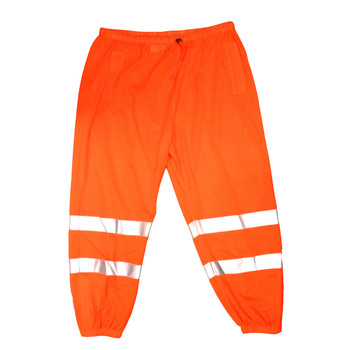 P100S/M COR-BRITE™ CLASS E  ORANGE MESH PANTS  2-INCH SILVER REFLECTIVE TAPE  ELASTIC WAIST WITH DRAWSTRING AND BARREL CLOSURE  HOOK & LOOP ANKLE CLOSURES  BACK POCKET  Cordova Safety Products