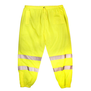 P1012XL/3XL COR-BRITE™ CLASS E  LIME MESH PANTS  2-INCH SILVER REFLECTIVE TAPE  ELASTIC WAIST WITH DRAWSTRING AND BARREL CLOSURE  HOOK & LOOP ANKLE CLOSURES  BACK POCKET  Cordova Safety Products