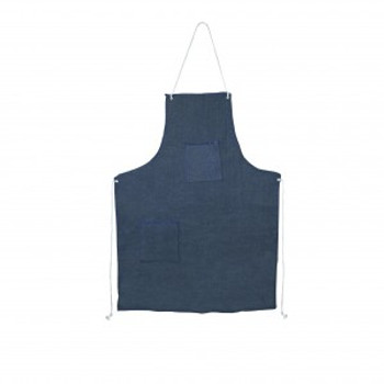 "DA2 DENIM APRON WITH GROMMETS & TIES  1 CHEST POCKET  ONE WAIST POCKET  28"" X 36"" Cordova Safety Products"