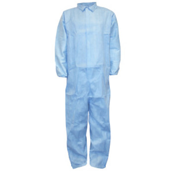 FRC150L DEFENDER FR™ BLUE LIMITED FLAME RESISTANT COVERALL  ELASTIC WRISTS & BACK Cordova Safety Products