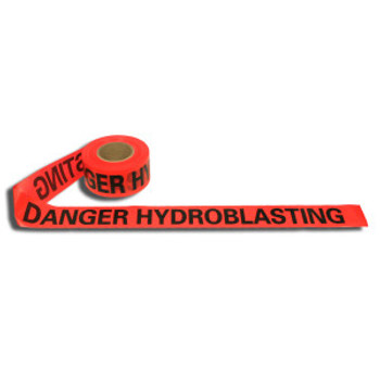 T20214 2.0 MIL RED DANGER HYDROBLASTING Cordova Safety Products