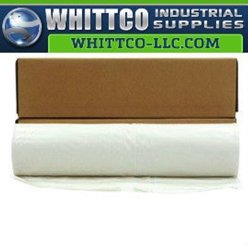 20' X 100' White 10 mil Polyethylene Flame Retardant Plastic Sheeting CFFR1020