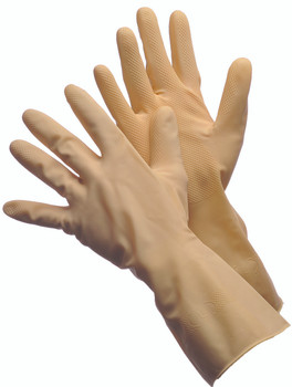 41-0012  -  NATURAL CANNER GLOVES   CHEMICAL RESISTANT GLOVES