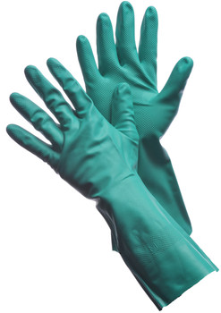 "41-0057UN  - 11 MIL - 13"" UNLINED GREEN NITRILE CHEMICAL RESISTANT GLOVES"