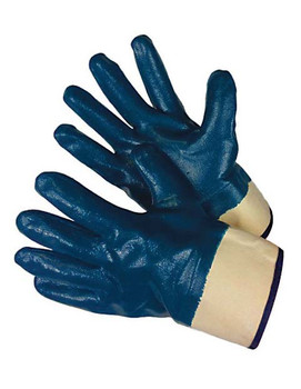 96-6110FP  - SMOOTH FINISH BLUE NITRILE FULLY COATED   CHEMICAL RESISTANT GLOVES