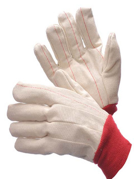 60-1990R  - DOUBLE PALM CANVAS - RED  COTTON HOT-MILL
