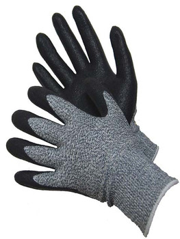 20-5539BK  -  CUT 5 H-POWER SHELL WITH FOAM NBR PALM COATED GLOVES       ( CUT RESISTANT )  CUT & HEAT RESISTANT