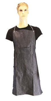 "10-2836BD2P - BLUE DENIM APRON 28"" X 36""  DISPOSABLE WEAR"