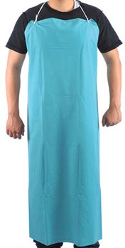 "10-4547-BU  -  PVC / POLYESTER APRON 35"" X 45""  DISPOSABLE WEAR"