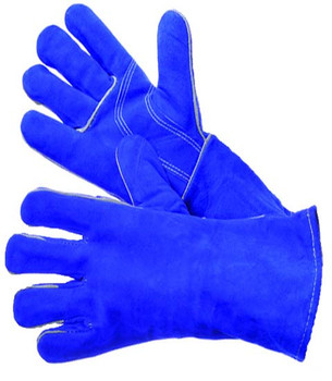 31-4014LH  - BLUE WELDING GLOVE LEFT HAND ONLY  LEATHER WELDING