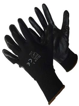 50-8838BKBK  - BLACK POLYESTER SHELL W/ BLACK NITRILE FOAM NYLON/POLYESTER SHELL W/ COATING