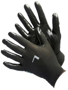 50-8839PBK  - BLACK POLYESTER SHELL W/ BLACK NITRILE COATING  NYLON/POLYESTER SHELL W/ COATING