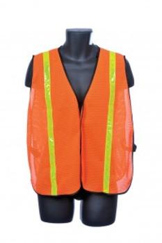 98-1300-O  - ORANGE MESH / YELLOW REFLECTOR  SAFETY VEST