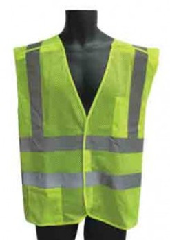 98-2601-G - LIME CLASS II 5 POINT BREAKAWAY VEST MESH  SAFETY VEST