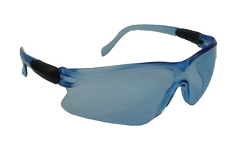 99-T8000-BU  - BLUE LENS SAFETY GLASSES - WISDOM