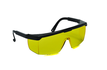 99-T8100-A - AMBER LENS SAFETY GLASSES -HURRICANE