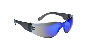 99-T8200-BM  - BLUE MIRROR LENS  SAFETY GLASSES -STORM